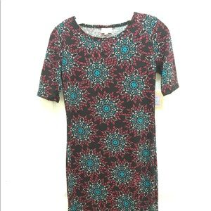 Lularoe Julia XS Dress mandala design